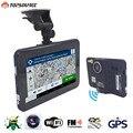 TOPSOURCE Navegação GPS 7 Polegada Android 4.4 16 GB/512 MB Caminhão Do Carro Navegador GPS Tablet PC Car Detector De Radar Do Carro DVR navitel mapa