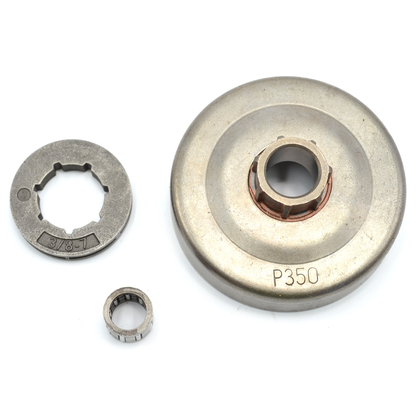 Clutch Drum Assy with 3/8 Rim Sprocket Needle Bearing for Partner 350 351 Chainsaw Parts 41mm piston pin circle ring needle bearing kit for partner 350 351 chainsaw parts
