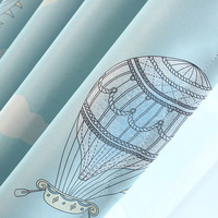 Children S Printing Curtains High Window Shade Curtain Sitting Walking In The Cloud Curtains For Living
