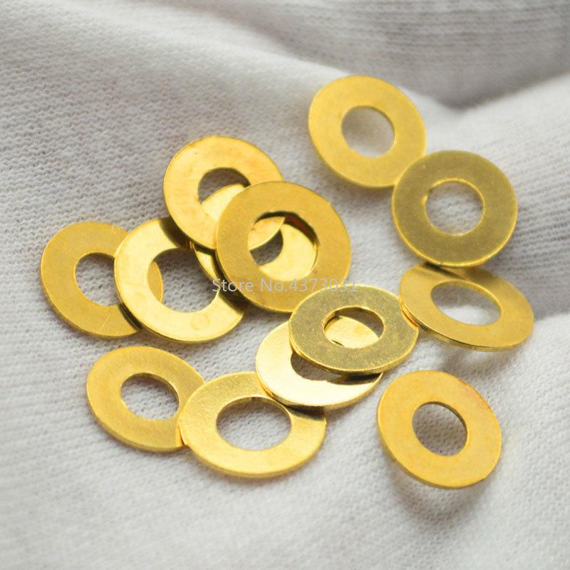 4pcs DIY Folding Knife Brass Washers C81 Folding Knives Screws C158/C186 Folding Knife Accessories Tools
