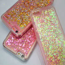 New  Liquid Glitter meteor sand sequins Colorful Dynamic Transparent Hard Mobile Phone cases For iphone 6/6Plus/7/7Plus