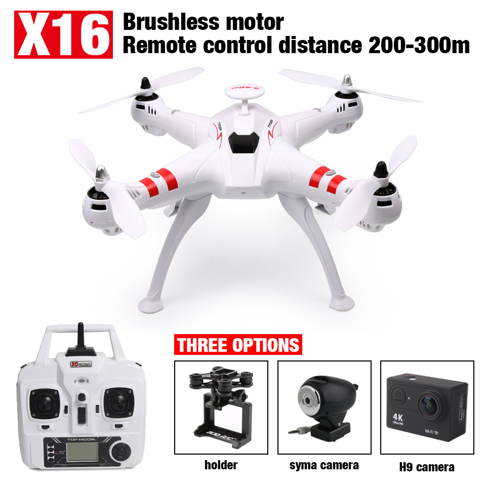 NEW Bayang X16 Brushless FPV Drone Headless Mode 300M Distance With 2MP Wifi Camera Or 14MP