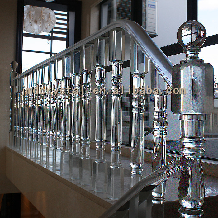 Crystal Glass Stairs Railings Staircase Designs Indoor Outdoor