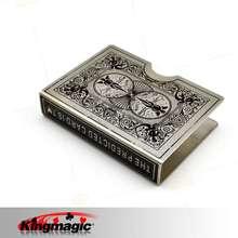 King Magic Нержавеющей Стали Велосипед Клип Карты Игральные Карты Держатель Accesory Magic Tricks Magic Реквизит