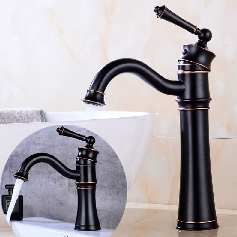 Free Shipping Black Bronze Basin Faucet Bathroom Sink Faucet Ceramic handle Luxury Basin Mixer Sink faucet Tap Brass Water Tap free shipping toilet tap bathroom faucet gold plated ceramic handle basin tap sink faucet brass tap with hot