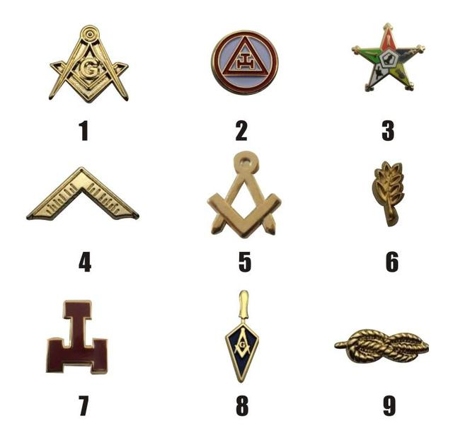 Factory Outlet High Quality Metal Mason Gifts Enamel Badges