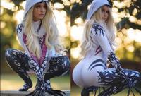 3D Print Spider Gwen Costume Girl Superhero Spider Spandex Zentai Suit Spiderman Halloween Costumes for Woman No Lenses