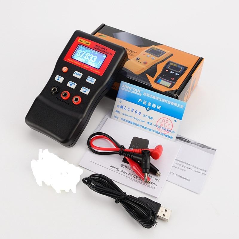 Прецизионный цифровой измеритель емкости индуктивности, автоматический тестер компонентов 500KH LC RC, колебаний, индуктивности, мультиметр, 0,...
