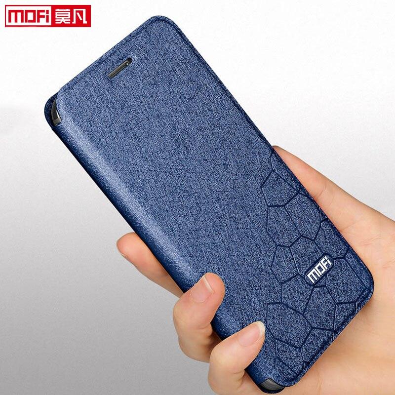 Huawei Honra 10i Tampa do Caso Da Aleta MOFi Luxo Macio Silicon Capa do Livro de Couro PU Glitter Fino Huawei HRY-LX1T 10 eu caso HONRA 10I