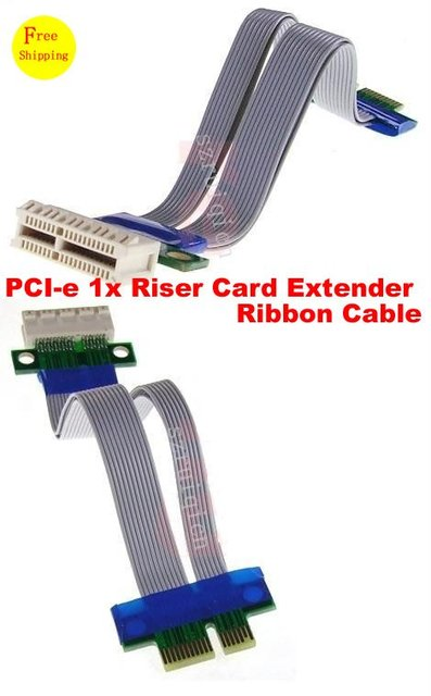 PCI Express 36-Pin 1x Male to Female 1U 2U Riser Ribbon Flexible Cable