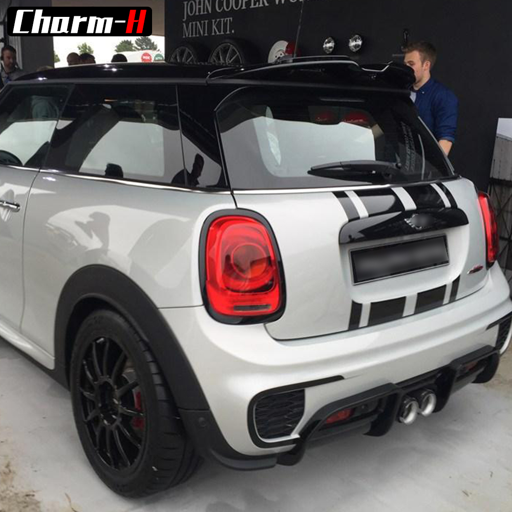 Front Bonnet Rear Taligate Stripes Hood Trunk Engine Cover Trunk Decal Stickers for MINI John Cooper Works F56 JCW Accessorie in Car Stickers from Automobiles Motorcycles