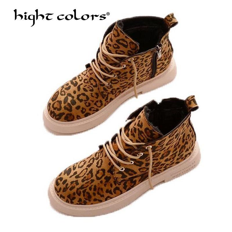 leopard lace up shoes