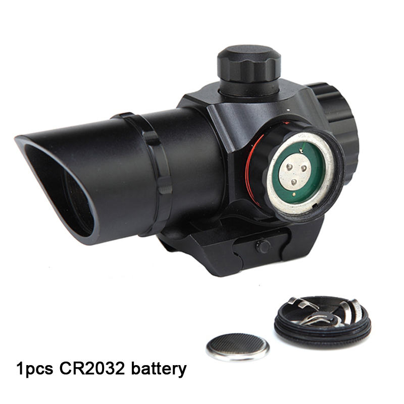 Image 4 - 1 x 22 Tactical Red/Green Dot Sight Scope Dual illuminated Reticle Airsoft Aiming Riflescope for Hunting fit 20mm Rail Mounts-in Riflescopes from Sports & Entertainment