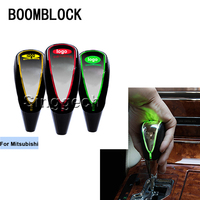 BOOMBLOCK Auto Gear Shift Knob Touch Sensor Colourful LED Light 5/6 Speed For Mitsubishi ASX Lancer 10 9 Outlander Pajero