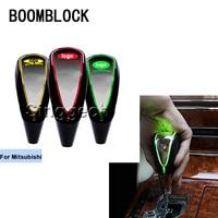 BOOMBLOCK Auto Gear Shift Knob Touch Sensor Colourful LED Light 5/6 Speed For Mitsubishi ASX Lancer 10 9 Outlander Pajero