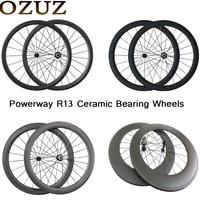 OZUZ 700C Wheelset Ceramic Bearing Factory Sales 24mm 38mm 50mm 60mm 88mm Depth Clincher Tubular Carbon Road Bike Bicycle Wheels