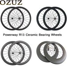 OZUZ керамический подшипник 24 мм 38 мм 50 мм 88 мм карбоновый шоссейный велосипед колесмм ная 23 мм шириной 3 К к матовый довод трубчатый Китай 700c велосипедные колеса