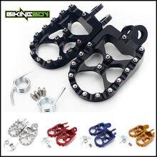 BIKINGBOY MX Foot Pegs Rests Pedals Footpegs for SUZUKI RM 125 250 91 02 RMX 250 R S 93 99 DRZ400 E S 00 01 02 DRZ 400 SM 05 16