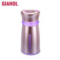 GIAHOL 300ml נייד USB מגניב ערפל אוויר מכשיר אדים מכונית אילם מיני ארומתרפיה מפזר עם צבעוני LED אורות אוטומטי לסגור-Off
