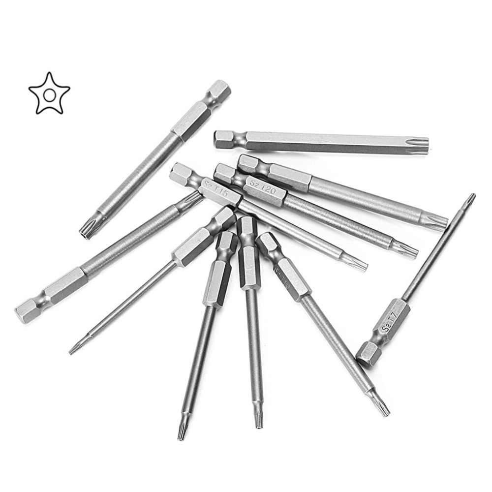 11 Pcs 75mm S2 Magnetic Torx Head Drill Screwdriver Set Bits Hand Tool Kit Screwdrivers Tools