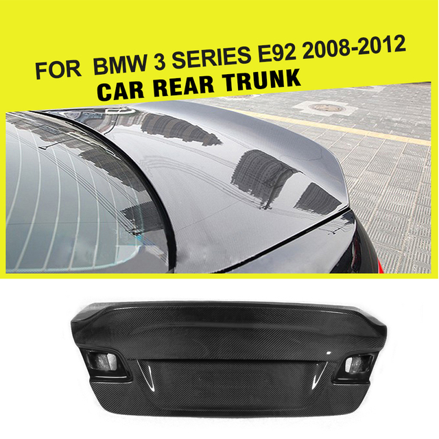 Carbon Fiber Racing Car Rear Trunk Boot Cover Cap for BMW 3 Series E92 325i 330i 335i Coupe 2009 - 2012 Car Styling