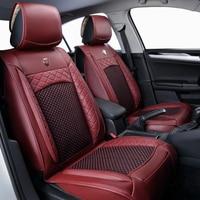 Seta del ghiaccio Car Seat Covers set Automotive Coprisedili per VW BMW Audi Toyota GMC Benz Hyundai kia car seggiolini per auto protezione cuscino
