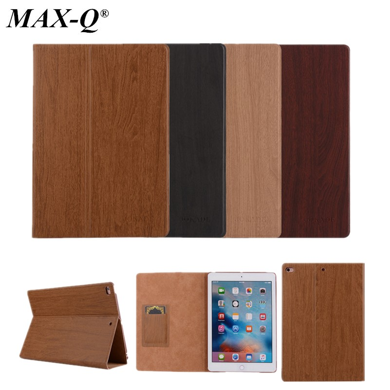 Wood Grain Flip Ultra Thin Foldable Stand PU Leather Case Smart Cover for apple ipad 5 6 air 1 2 automatic sleep with free film ultra thin for ipad air 2 case pu leather smart stand cover universal auto sleep wake up flip 9 7inch case for ipad air 1 2