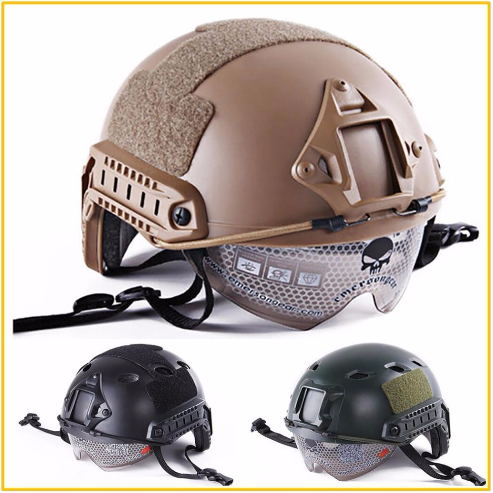 Lightweight Resistant Material FAST Helmet Goggles Edition Military Airsoft Helmet Paintball Face Mask for Fast HelmetLightweight Resistant Material FAST Helmet Goggles Edition Military Airsoft Helmet Paintball Face Mask for Fast Helmet