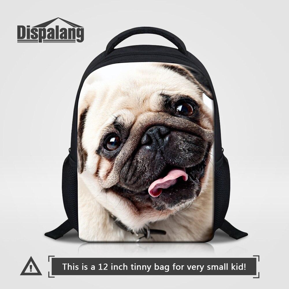 Dispalang New Little Kids School Bag Pug Puppy Dog Printed Backpack Children  Animal Bookbags Child Kindergarten Mochila Infantil-in Backpacks from  Luggage ...