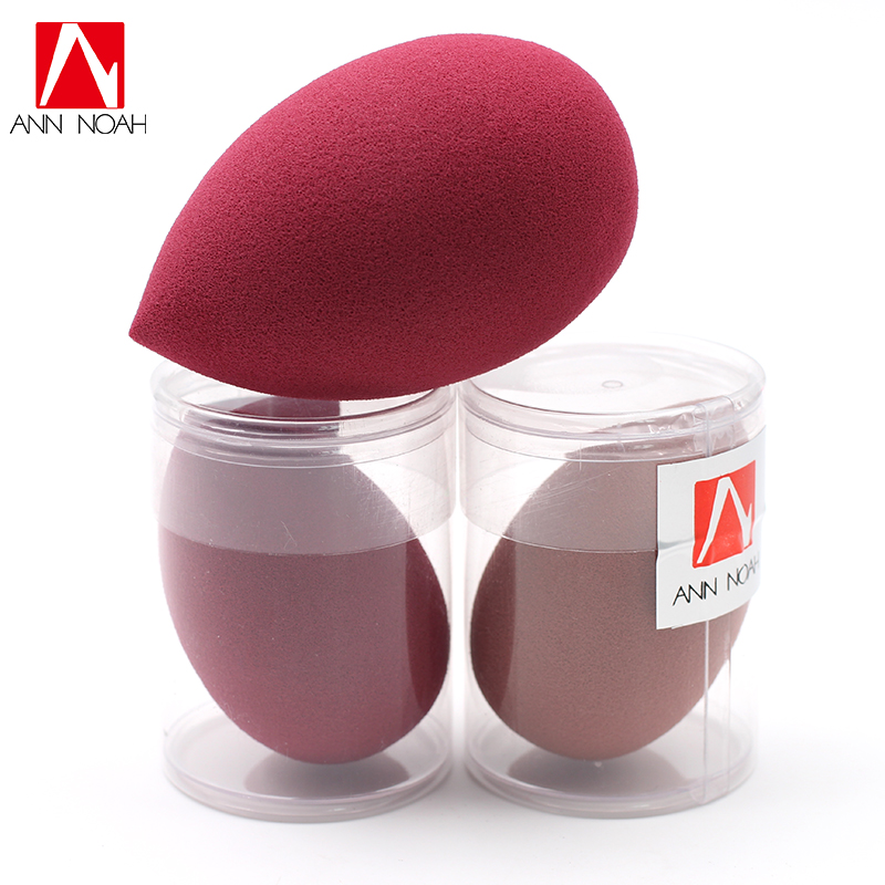 Annoah Black Tea Red Wine Color Water Expand Latex Free Foundation Powder Cosmetic Puff Face Blender Makeup Sponge candy color calabash shaped cosmetic makeup cotton pads sponge puff pink