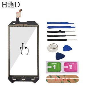 Image 4 - Mobile Front Touch Glass For Blackview BV6000 BV 6000 Lens Sensor Touch Screen Digitizer Panel Adhesive + Screen Protector Gift