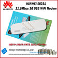 New Arrival Original Unlock HSPA+ 21.6Mbps HUAWEI E8231 3G USB WiFi Modem Support 10 WiFi Device And HSPA 900 2100Mhz