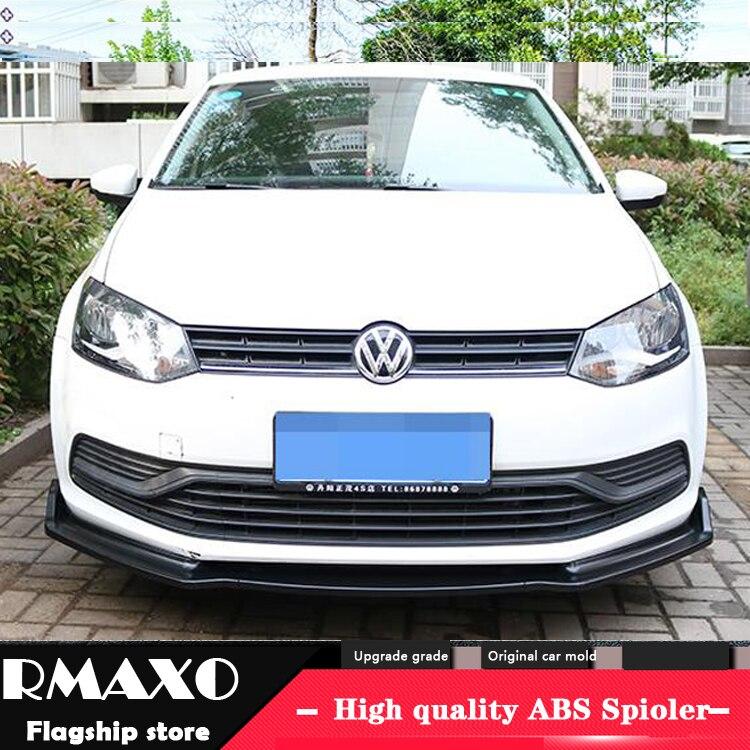 For VW POLO ABS Rear Bumper Diffuser Protector For 2014 2017 POLO Body kit bumper rear
