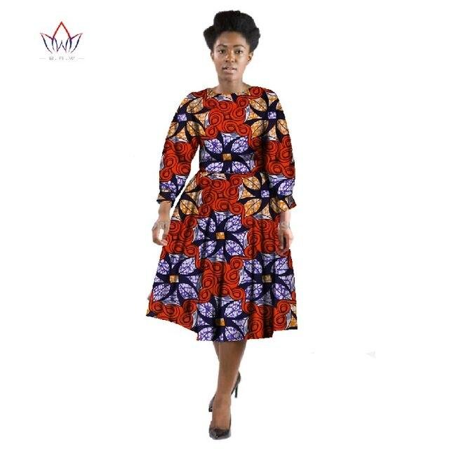 Abiti africani per le Donne di Inverno Dei Vestiti Delle Donne 2016 Del  Vestito A Maniche f77f21f840c8