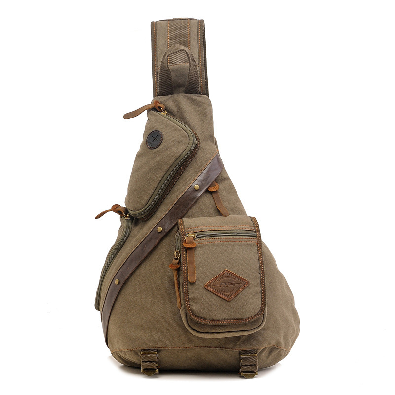 Bag Sling Canvas Chest Bag Simple Single Shoulder Anti Theft Crossbody Bags Sac A Main Homme
