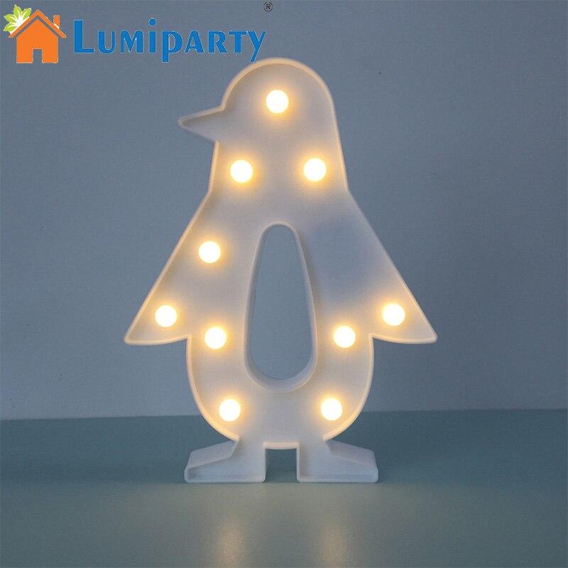 LumiParty LED Marquee Night Light Carino Pinguino Decorativo Luce per Camera Da Letto Camera Dei Bambini Tavoli Bel regalo per Gli Amici Bambini