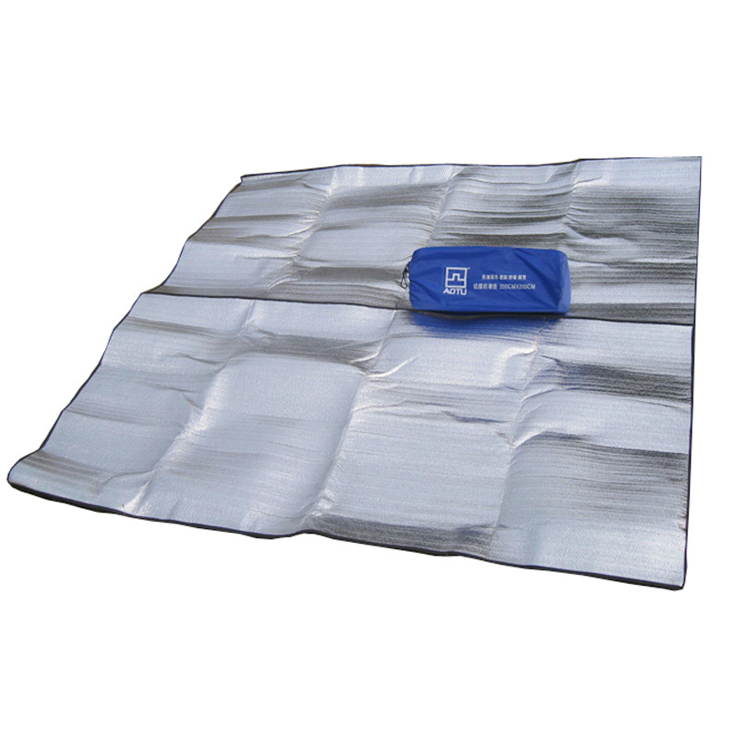 AOTU New 200*200cm Aluminum Backing Insulating Insulation Foam Camping Mat Blanket Cushion Pad for Camping Hiking