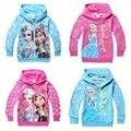 Nuevos hoodies de las muchachas con cremallera algodón de manga larga de las muchachas del bebé sudaderas niños niños chaqueta escudo abrigos babymmclothes