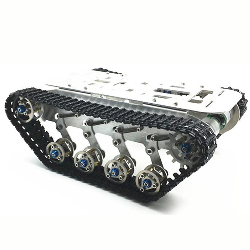 JMT Metal Aluminum Alloy Smart Robot Tank Chassis Kits RC Tracked Car Intelligent RC Toys metal aluminum alloy smart robot tank