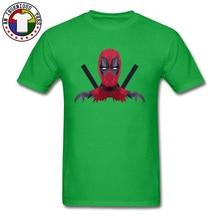 Marvel Superman Heroes Deadpool Men Tops T Shirt Daredevil League New Tshirts Round Collar Cotton Clothes