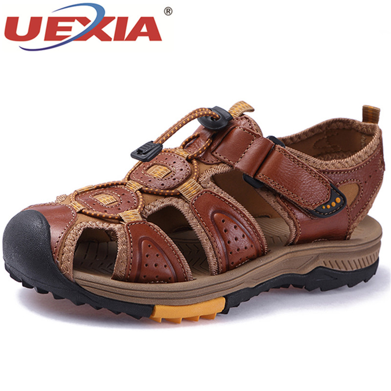 UEXIA 2018 Summer Men Sandals Gladiator Beach Shoe Male Water Slippers Fashion Sport Flats Sandalia Outdoor sandalias masculina