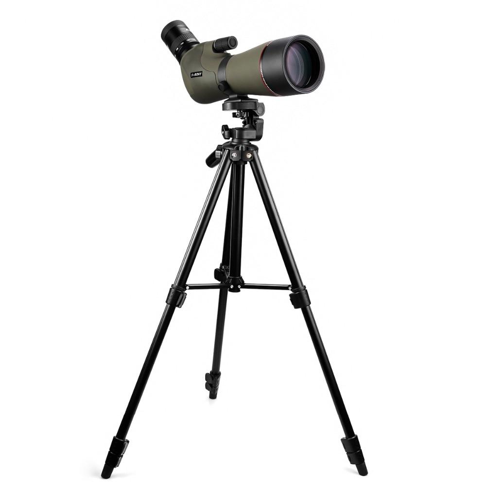 "Image 4 - SVBONY 20 60x80 Zoom Spotting Scope Nitrogen Filled Water proof Telescope Dual Focus Mechanism Metal Body w/ 54"" Aluminum Tripod-in Spotting Scopes from Sports & Entertainment"