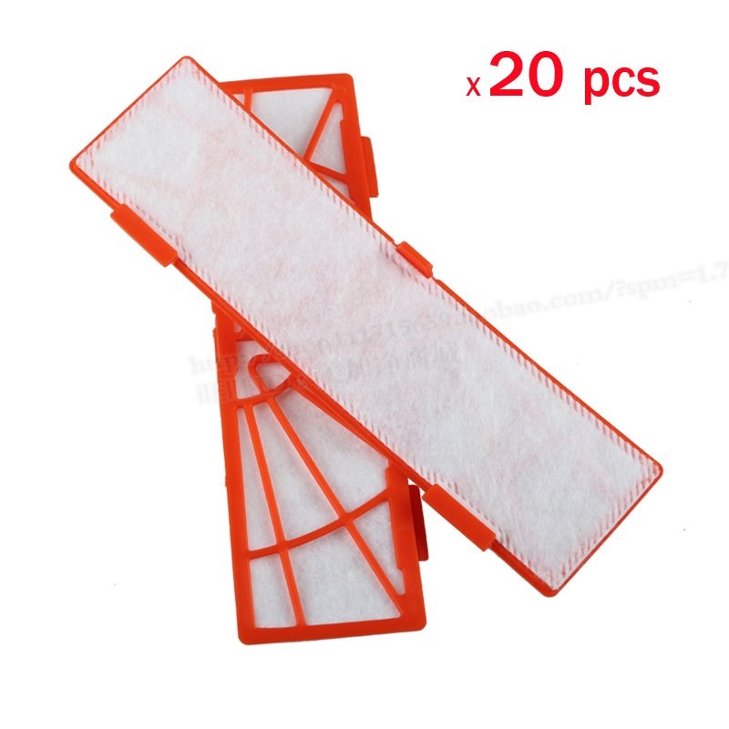 20 pcs/lot Replacement filter for neato botvac 85 70 70e 80 series Vacuum Cleaners neato botvac Filter Parts Accessaries 4pcs hepa filter for neato botvac 70e 75 80 85 series robotic vacuum cleaners robot high quality