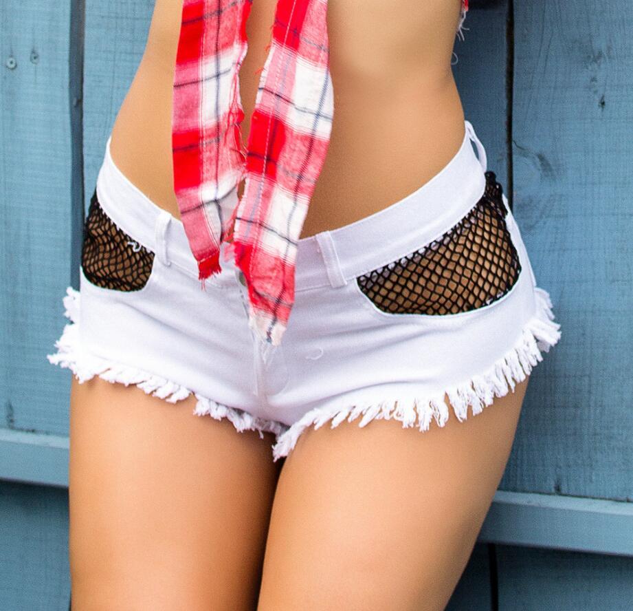 De Cortos 2019 Fiesta Baile Cintura Pantalones Dj Para Nuevos Mujer Vaqueros Baja Sexy vmnN80w