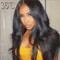 300%Density Silky Straight Glueless Full Lace Human Hair Wigs For Black Women straight Lace Front Wigs With Baby Hair Free part