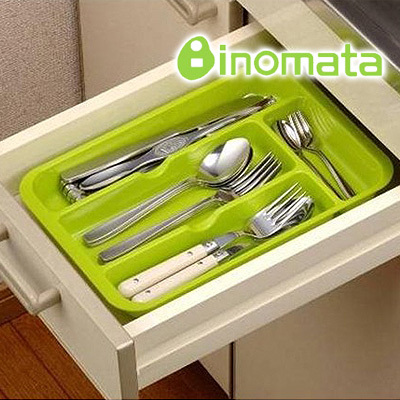 Kitchen Drawer Cutlery Tray Finishing Wheel Chopsticks Spoon Fork Storage Box
