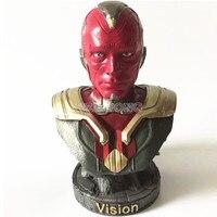 23 см Мстители 3 Бесконечность война видение фигурку супергероя видения Смола Бюст видения модели Цифры статуя коллекция подарок