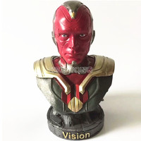 23 CM Avengers 3 Infinity War Vision Action Figure Superhero Vision Resin Bust Vision Model Figures Statue Collection Gift
