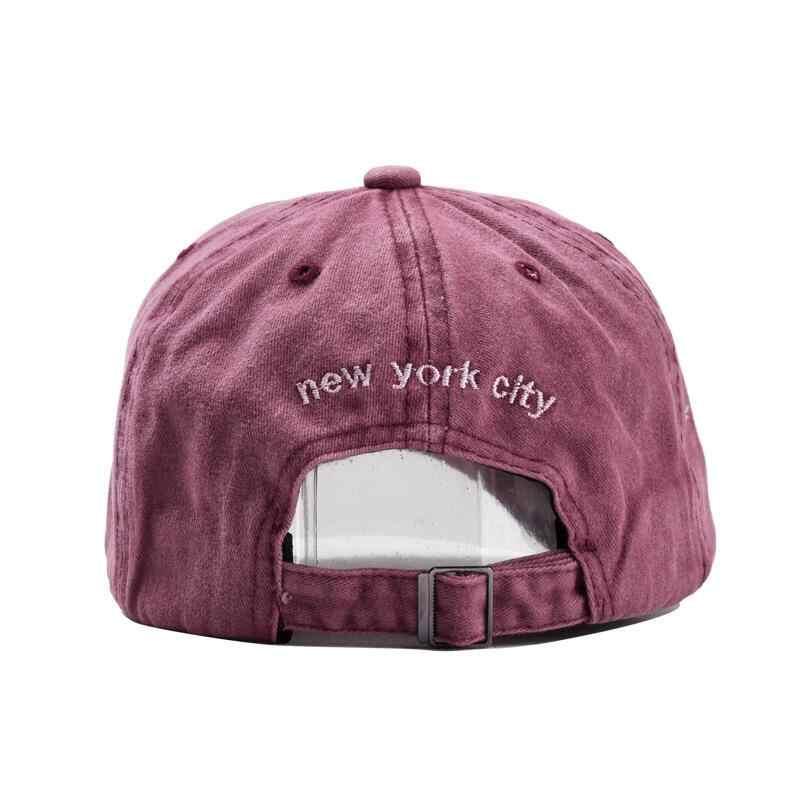 الرمال غسلها 100% قيعة بيسبول صغيرة قبعة للنساء الرجال dad أبي قبعة نيويورك التطريز رسالة الرياضة في الهواء الطلق قبعات
