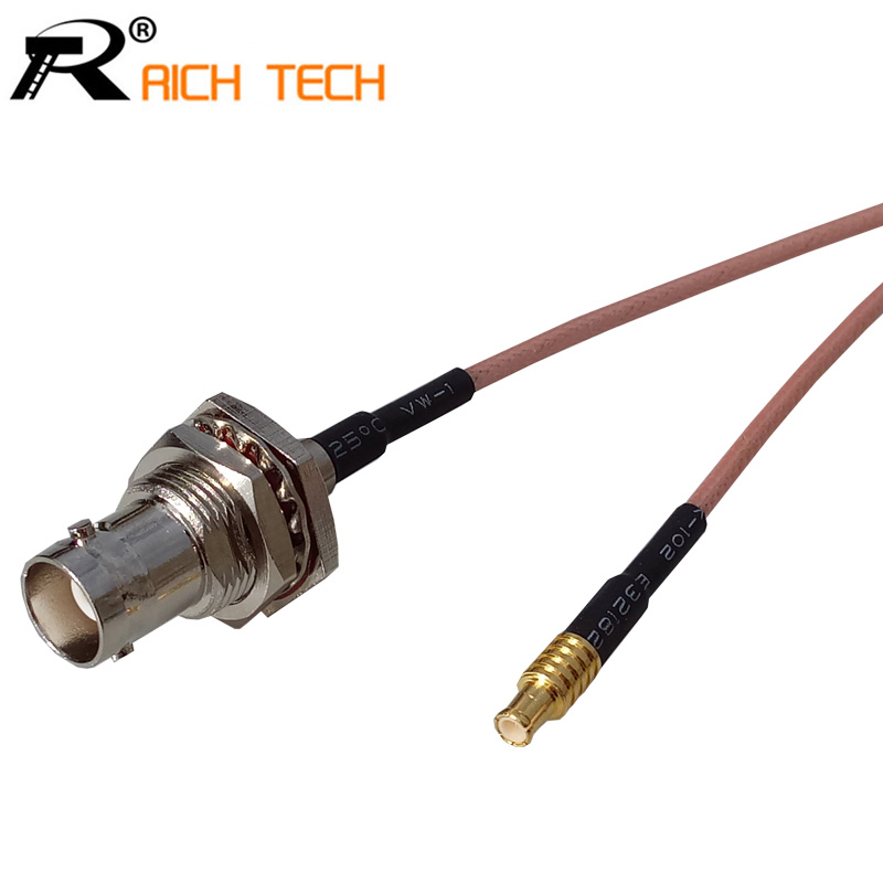 RF MCX male plug Switch BNC Female Jack adaptor RG316 coaxial cable linear Connector new 1 pcs adapter sma female gold plating jack to mcx male gold plating plug rf connector straight 50 ohm vc721 p10